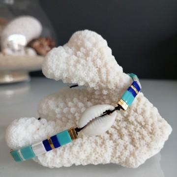 Bracelet Kyoto Turquoise et Cauris - Majabel