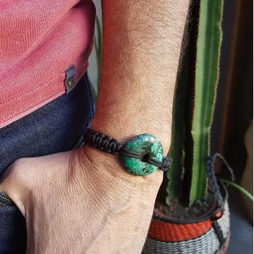 Bracelet Donuts Turquoise Naturelle - Majabel