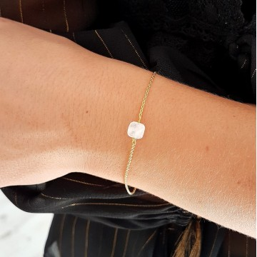 Bracelet Plaqué or et Pierre de lune - Majabel