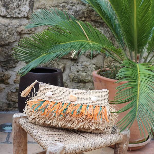 Pochette en raphia Huahine - Majabel