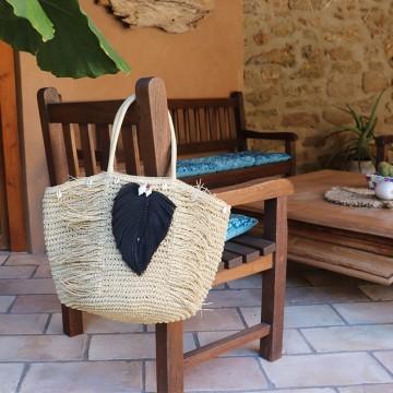 Panier Ibiza en raphia tressé - Majabel