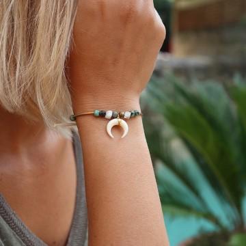 Bracelet Bamako demi-lune  - majabel