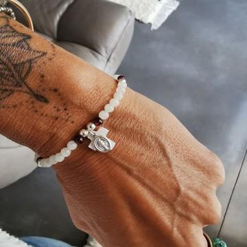 Bracelet réglable Bonne Aventure en pierre de lune - Majabel