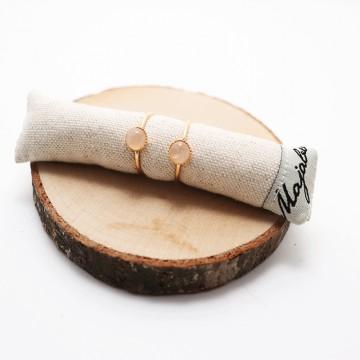 Bague ajustable plaqué or Céleste  - Majabel