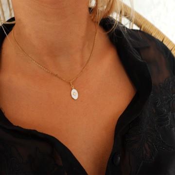 Collier Céleste doré pendentif étoile polaire  - Majabel