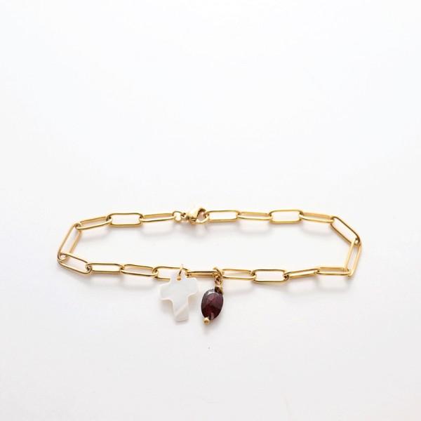 Bracelet chaîne doré Néréïde - majabel