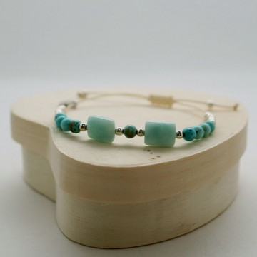 Bracelet cordon ajustable Océan- Majabel