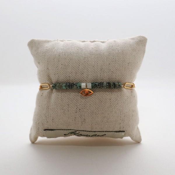 Bracelet chaîne et pierres fines Antalya - majabel