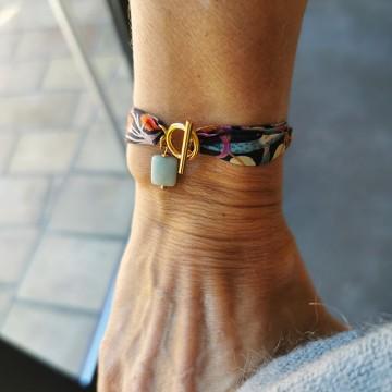 Bracelet Liberty pierre fine Amazonite - Majabel